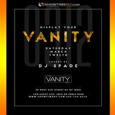 Saturdays @ The vanity Lounge
