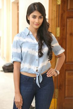 Pooja Hegde is an Indian model and film actress. She has worked in Hindi, Telugu and Tamil films and is known for being the lead actress in . South Indian Actress Hot, Indian Bollywood Actress, Beautiful Bollywood Actress, Most Beautiful Indian Actress, Bollywood Fashion, Beautiful Actresses, Indian Actresses, South Actress, Bollywood Saree