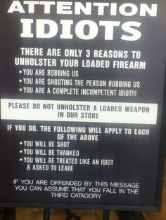 Sign At A Gun Store