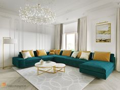 23 Clever DIY Christmas Decoration Ideas By Crafty Panda Living Room Turquoise, Beige Living Rooms, Boho Chic Living Room, Living Room Colors, My Living Room, Living Room Decor, Living Room Sofa Design, Living Room Designs, Sectional Sofa With Chaise