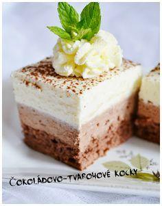 Čokoládovo-tvarohové kocky Czech Desserts, Wonderful Recipe, Pavlova, Vanilla Cake, Tiramisu, Ham, Cheesecake, Food And Drink, Pudding