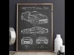 Sports Car Carbon Edition Patent Poster, Car Enthusiast, Car Wall Decor Garage Art, Car Posters, Boys Room Decor, Metal Gear, Wall Decor, Sports, Prints, House, Etsy