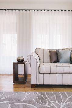 Wave curtains for a minimal window treatment
