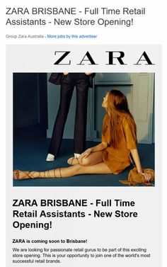 EXCLUSIVE! ZARA Brisbane to Open December 2015