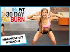 30 Day Fat Burn: Maximum HIIT Workout - YouTube....GREAT GREAT GREAT WORKOUT....USES WEIGHTS.....ABOUT 10 MINS.