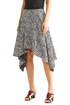 Proenza Schouler   Asymmetric printed silk skirt   NET-A-PORTER.COM