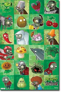 Plants vs. Zombies - Grid Poster