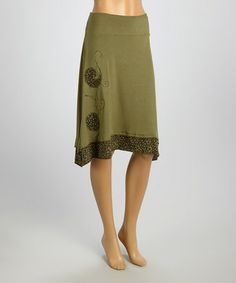 Look what I found on #zulily! Green Floral & Paisley Skirt #zulilyfinds