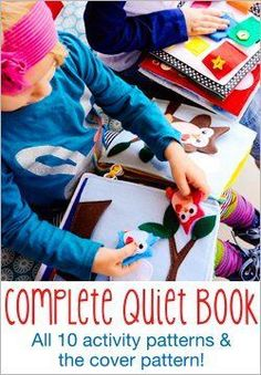 Top 10 Quiet Time Toys for Kids. Quiet Book Pattern – Our own, Chickabug designer, Heather designed these amazing books and we love, every single page, as do our kids. A fun project for you to work on by yourself or together and the finished product is AMAAAAZING! (affiliate link)