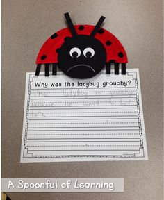 Insects! Literacy and Math Activities! The Grouchy Ladybug