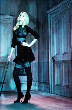 Claudia Schiffer by Miles Aldridge for Vogue Germany August 2011
