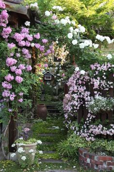 50 Backyard Landscaping Ideas that Will Make You Feel at Home - The Trending House Beautiful Gardens, Beautiful Flowers, Gardening Magazines, Gardening Blogs, Love Garden, Garden Cottage, Natural Garden, Climbing Roses, Front Yard Landscaping