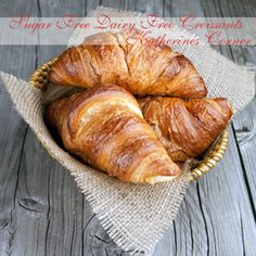 Sugar Free Dairy Free Croissants- Sharing a yummy croissant recipe today for those with food restrictions.It is a time consuming recipe but well worth the effort. Add your favorite jam or marmalade or just add some butter substitute or margarine. Of course you can use milk, sugar and butter in this
