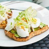 Open Faced Egg Sandwich by avocadopesto