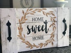 Home Sweet Home Pallet Tray