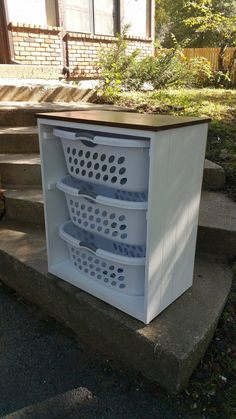 Laundry Basket Holder Laundry Room Decor Laundry Organizer Laundry Basket Organizer Laundry Furniture Clothes Basket Organizer Cabinet - Laundry Basket Holder – Fits and includes 3 premium laundry baskets, they are bushel. Wooden Laundry Basket, Laundry Basket Holder, Laundry Basket Organization, Laundry Room Organization, Laundry Room Design, Laundry Organizer, Laundry Baskets, Laundry Rooms, Organizing