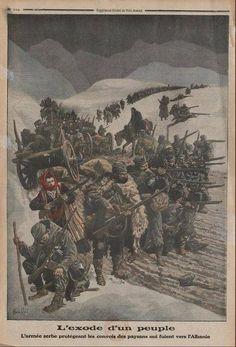 Povlacenje Srba 1915 - Retreat of Serbian population, WWI