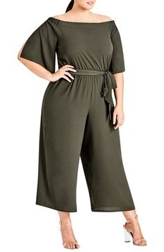 Shop a great selection of City Chic Womens Plus Off-The-Shoulder Chiffon Jumpsuit. Find new offer and Similar products for City Chic Womens Plus Off-The-Shoulder Chiffon Jumpsuit. Plus Size Stores, Plus Size Clothing Stores, Plus Size Fashion For Women, Plus Size Women, Plus Fashion, Women's Fashion, Fashion Outfits, Look Plus Size, Trendy Plus Size