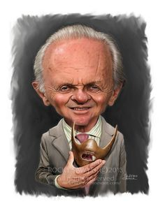 Sawyer Illustration Inc. caricature and cartoon art studio: Anthony Hopkins