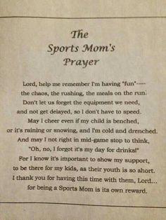 Sports Mom's Prayer