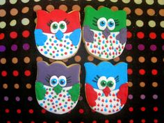 Owl cookies ~ The Blue Cottage