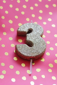 GLITTER GOLD CANDLE Number Numeric Birthday Candles 1st 2nd 3rd 4th 5th 6th 7th 8th Kids