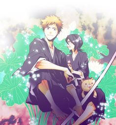 Find images and videos about couple, anime and bleach on We Heart It - the app to get lost in what you love. Bleach Anime, Bleach Ichigo And Rukia, Kuchiki Rukia, Bleach Fanart, Shinigami, Otaku, Money Pictures, Money Pics, Bleach Couples