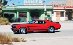 1969 ford mustang boss 302 left side view 2