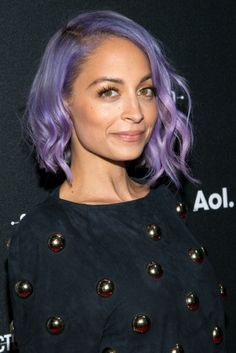 Nicole Richie attends the 2014 AOL NewFront. Hair by Renato Campora. Makeup by Beau Nelson.