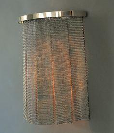 OCHRE - Chainmail Wall Light