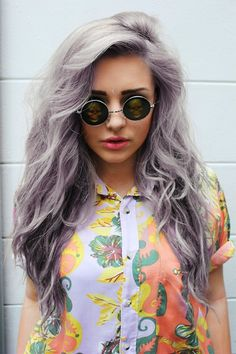 i want grey hair with hues of blue or purple... i will be an awesome old lady