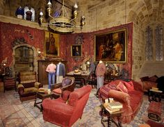 harry potter gryffindor common room | ... pictures the making of harry potter the gryffindor common room