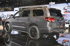 2018 Toyota Sequoia TRD Sport live photos: 2017 Chicago Auto Show Toyota Sequioa, Chicago Auto Show, Sporting Live, Toyota Cars, Trd, Rav4, Toyota Land Cruiser, Cars And Motorcycles, Live Photos