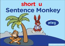 short 'e' sentence game, word families phonics game online