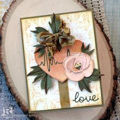 Die Cut Cards, Love Cards, Tim Holtz Dies, Sizzix Dies, Spellbinders Cards, Ranger Ink, Heart Cards, Card Making Inspiration, In A Heartbeat