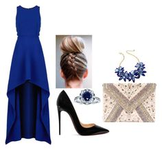 """""""Outfit"""" by mbelma ❤ liked on Polyvore featuring BCBGMAXAZRIA, Christian Louboutin, LULUS, Kobelli and Kate Spade"""