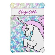 Purple and Pink Unicorn Pattern iPad Mini Cases