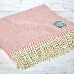 Super Soft Merino Throw - Rose Blush Pink - Tolly McRae - 1