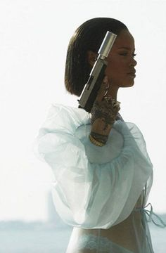 "Rihanna in her music video ""Needed Me"""