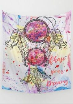 Multicolor Dream Catcher Printed Rectangle Tapestry