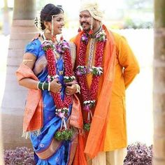 The traditional bride and bridegroom of Maratha