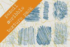 Pencil Scribble Texture Pack by KatieAllen on @creativemarket