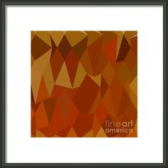 Pastel Orioles Orange Abstract Low Polygon Background Framed Print By Aloysius Patrimonio