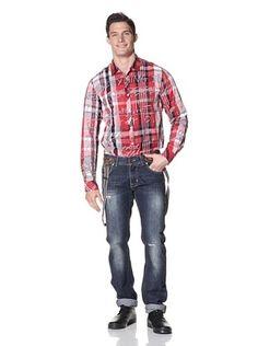 Desigual Men's Jeans with Suspenders