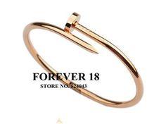 High Quality  ROSE Gold Plating Titanium Steel JUST UN CLOU  Bangle Bracelet for Men or Women wholesale