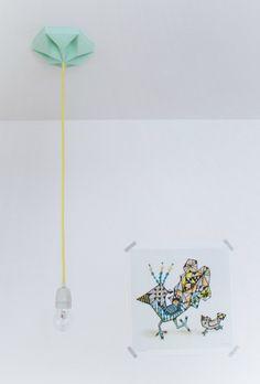 Papieren plafondkapje van Studio Snowpuppe