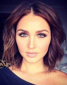 10 Chic and Sexy Short Hairstyles: #2. Short Wavy Brown Haircut