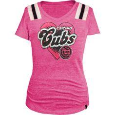 Chicago Cubs Hot Pink Girls Jersey Shirt by 5th & Ocean | Sports World Chicago $24.95  @Leslie Mallman Cubs #ChicagoCubs
