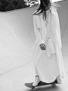 soft triple drapey coat | http://bssk.co/1tgzjZn soft triple drapey skirt | http://bssk.co/1yeyDVw