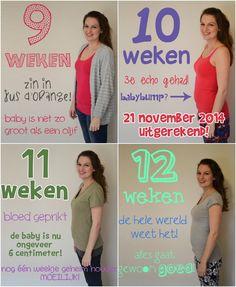 9, 10, 11, 12 weeks pregnant. chalkboard idea.  9, 10, 11, 12 weken zwanger. krijtbord idee.